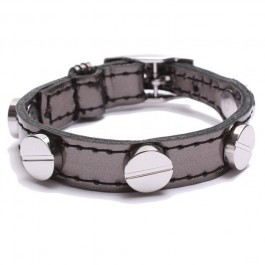 Screw bracelet Silver Gunmetal