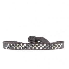 Bracelet diago gris foncé