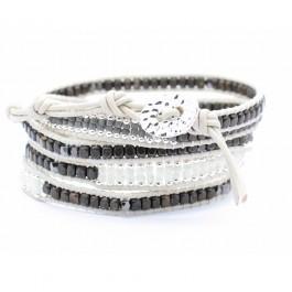 Bracelet gunner black and white Nakamol