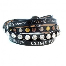 Bracelet Divine metallic black