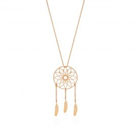 Collier Dreamcatcher plaqué or rose