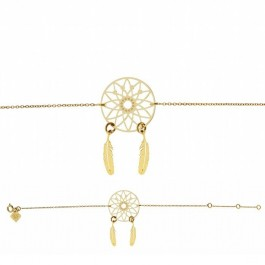 Dreamcatcher Gold Plated Chain Bracelet