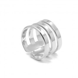 Triple Silver Plated Ring