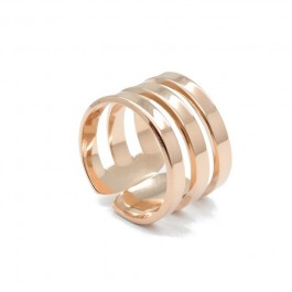 Triple Rose Gold Plated Ring