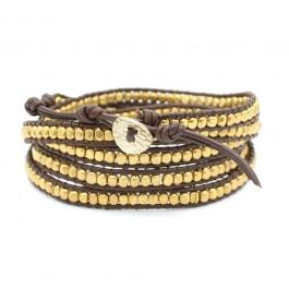 Bracelet brown full gold iron Nakamol