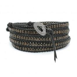 Bracelet gun full black iron Nakamol