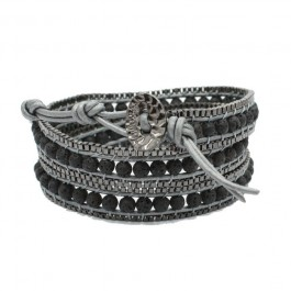 Bracelet wrap volcano chain Nakamol
