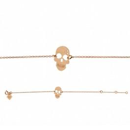 Bracelet chaine Skully plaqué or rose