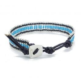 Bracelet Kayapos double blue Nakamol
