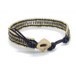 Bracelet Kayapos navy gold Nakamol