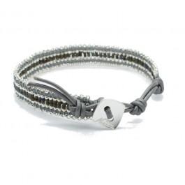 Bracelet Kayapos silver grey Nakamol