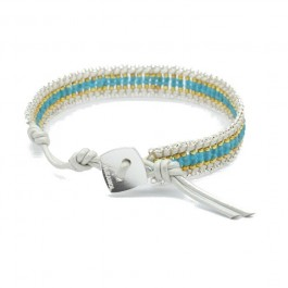 Bracelet Kayapos silver gold blue Nakamol
