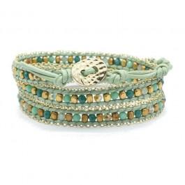 Bracelet green gold chain Nakamol