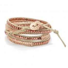 Bracelet pink copper natural Nakamol Chigaco