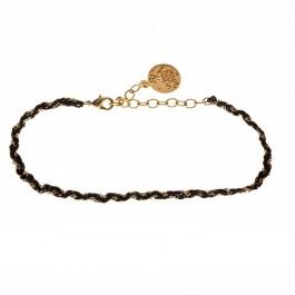 Bracelet tressé sur chaine Un jour mon Prince