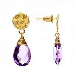 Athena amethyst drop earrings