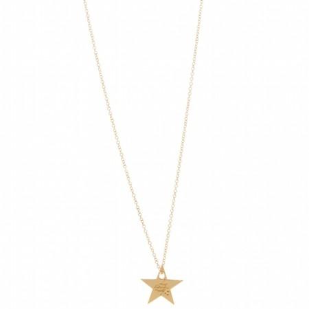 Sautoir Star plaqué or rose