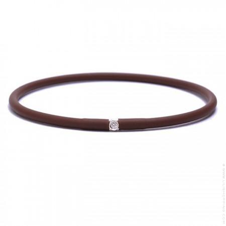 My first diamond dark brown bracelet