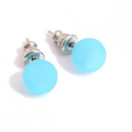 Turquoise resin earrings