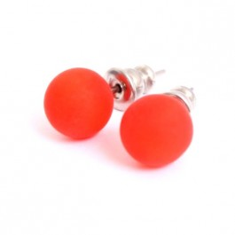 Orange resin earrings