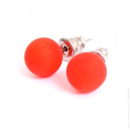 Boucles d'oreilles orange