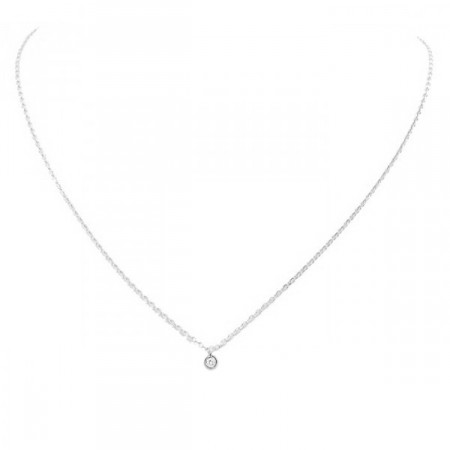 Collier or blanc 18 carats et diamant