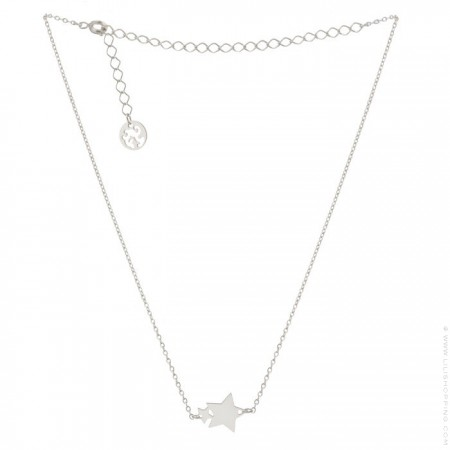 Silver Plated stars Necklace