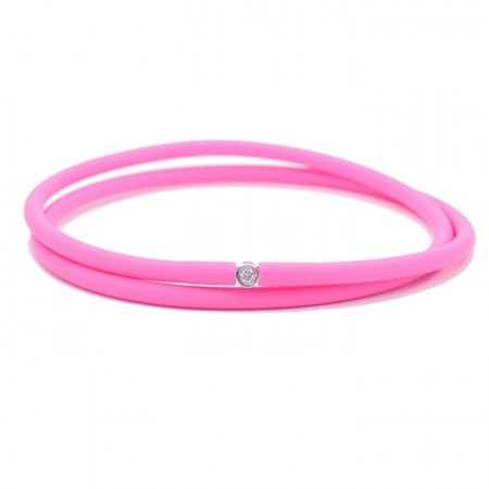 Bracelet My first diamond double lien fushia