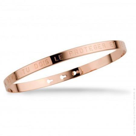 Bracelet Si tu as un rêve tu dois le protéger plaqué or rose