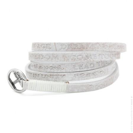 Bracelet Courage Vintage white