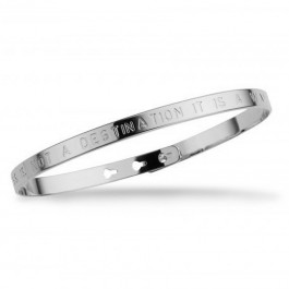 Happiness Is Not A Destination Silver Plated Bracelet