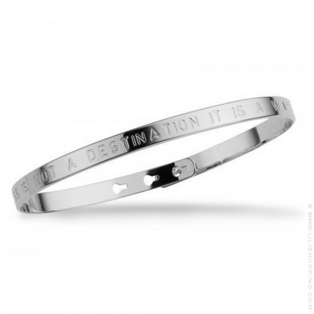 Bracelet Happiness is not a destination plaqué argent