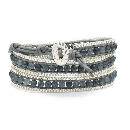 Bracelet wrap grey chain