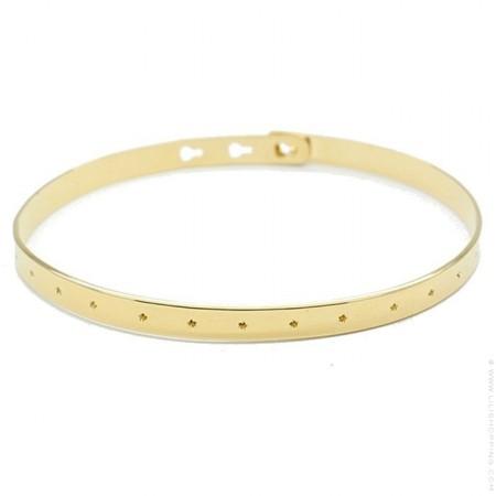 Bracelet petites étoiles plaqué or