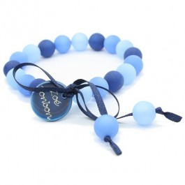 Three blue mini beads bracelet Zoe Bonbon