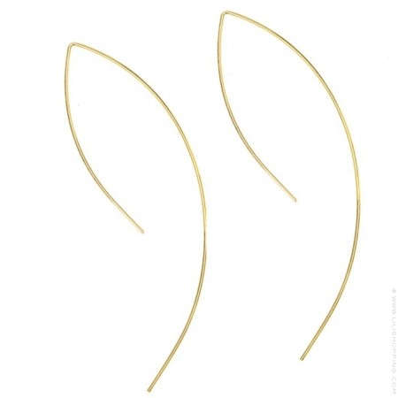 Boucles d'oreilles arc plaquées or