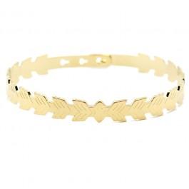 Bracelet Feuilles plaqué or