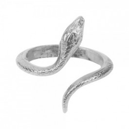 Silver platted Snake ring