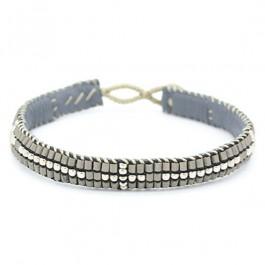 Bracelet croix gris et argent Tembi