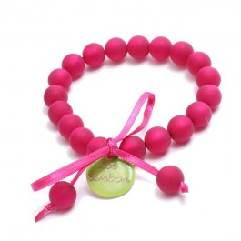 Bracelet mini boules Fushia