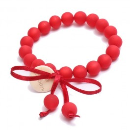 Bracelet mini boules rouge Zoé Bonbon