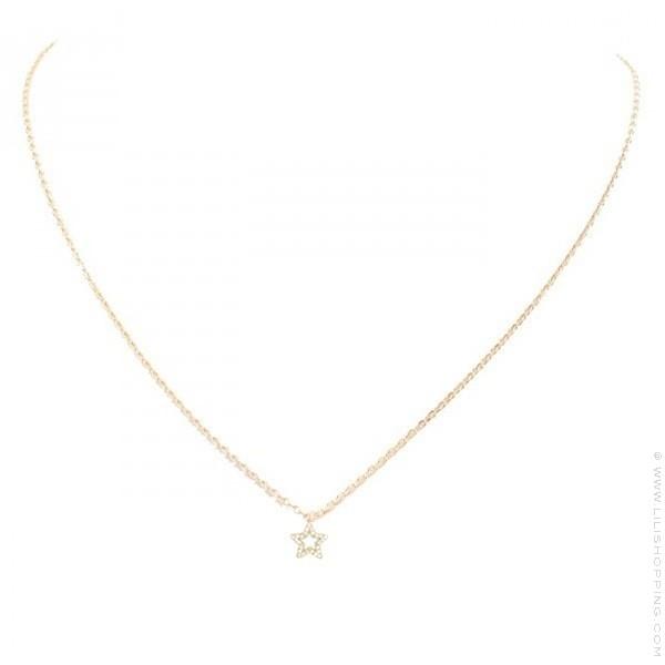 styles classiques vêtements de sport de performance comment choisir Collier or 18 carats et étoile en diamants
