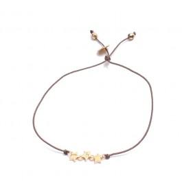 Bracelet 3 Etoiles plaquées or