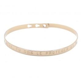 Bracelet Si tu as un rêve tu dois le protéger plaqué or chocolat