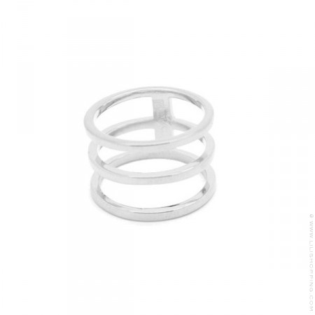 Silver triple ring