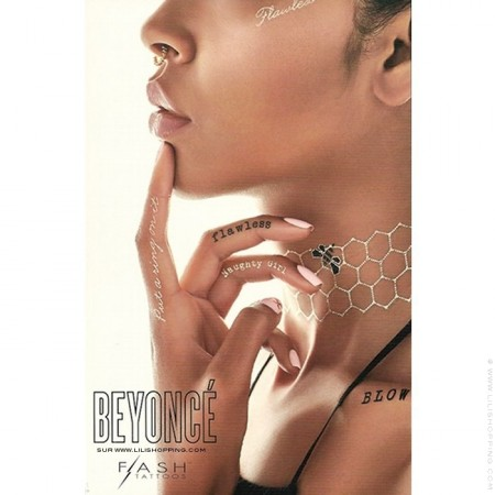 Set de tatouages éphémères Beyonce X Flash Tattoos