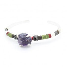 Rough stone bangle