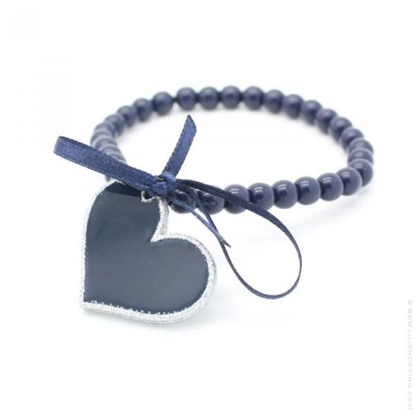 bracelet coeur marine argent lili shopping. Black Bedroom Furniture Sets. Home Design Ideas