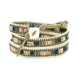 Bracelet chain wrap kaki gold Nakamol