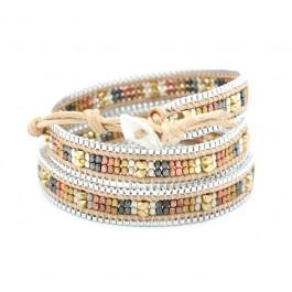 Bracelet chain wrap camel Nakamol